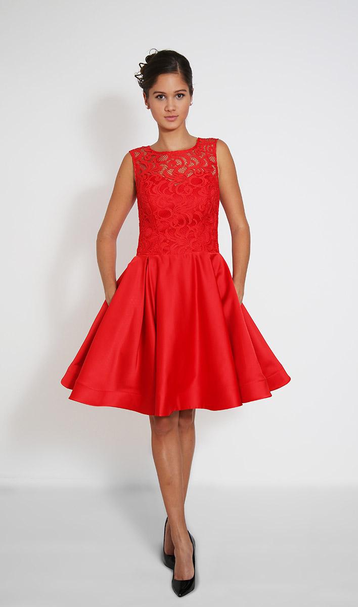 e1e8ec05c44c Červené krátké společenské šaty